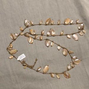 Lia Sophia long gold coloured necklace